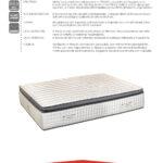 GRAN REFERENCE materasso 1600 molle insacchettate con topper in lattice