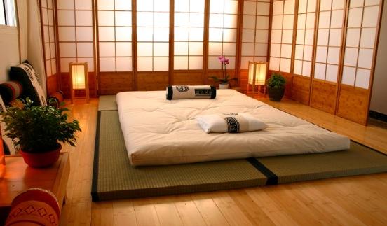 futon, il materasso giapponese che si arrotola